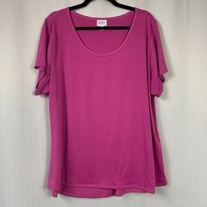 LuLaRoe Solid Colored Classic Tee Size 3XL